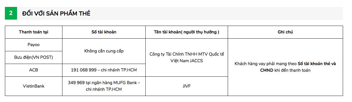 Hướng dẫn vay tiền Jaccs trực tuyến